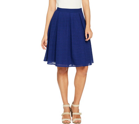 C. Wonder Eyelet Box Pleat Full Skirt