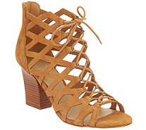 Marc Fisher Cut-out Suede Lace-up Sandals - Blair - A289880
