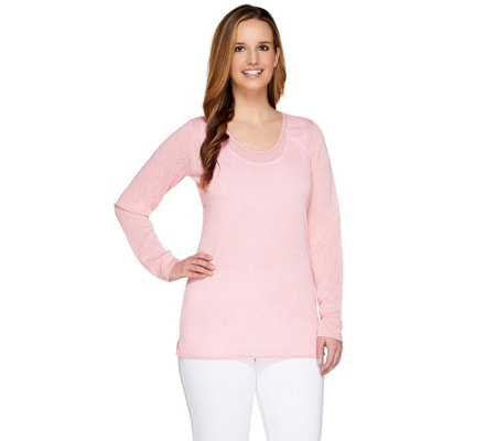 """As Is"" Kelly by Clinton Kelly Double Layers Top with Baby Chain"