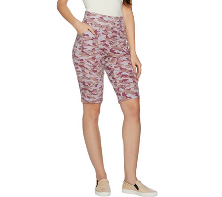 LOGO Lounge by Lori Goldstein French Terry Printed Shorts