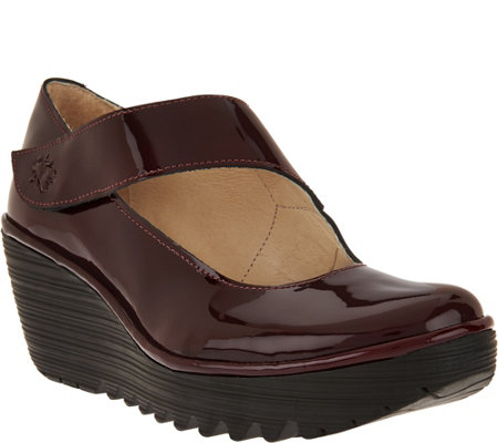 """As Is"" FLY London Leather Mary Janes - Yasi"