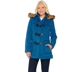 """As Is"" C. Wonder Faux Wool Zip Front Coat with Toggle Detail - A291180"