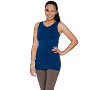 skinnytees Seamless Scoop Neck Layering Tank - A291480