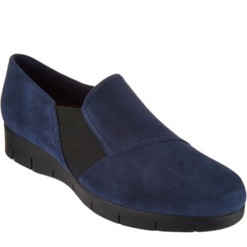 Clarks Artisan Suede Slip-on Shoes - Daelyn Monarch