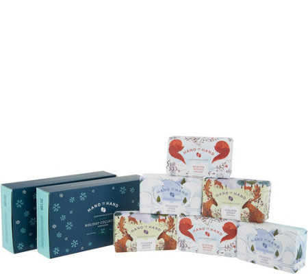 Hand in Hand Set of Six Soaps in Gift Box