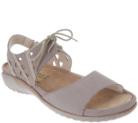 Naot Leather Lace Up Sandals - Mangere