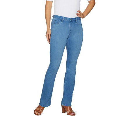"""As Is"" Laurie Felt Petite Silky Denin Boot Cut Pull-On Jeans"