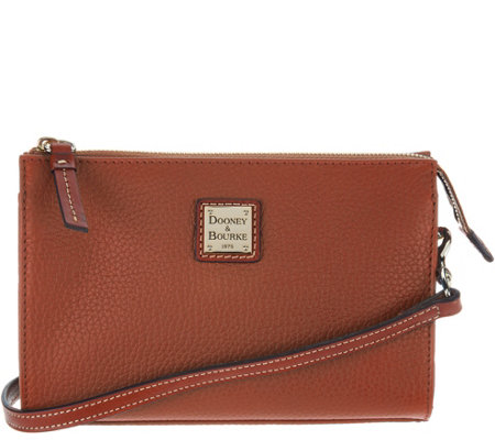"""As Is"" Dooney & Bourke Pebble Leather Crossbody Handbag-Janine"