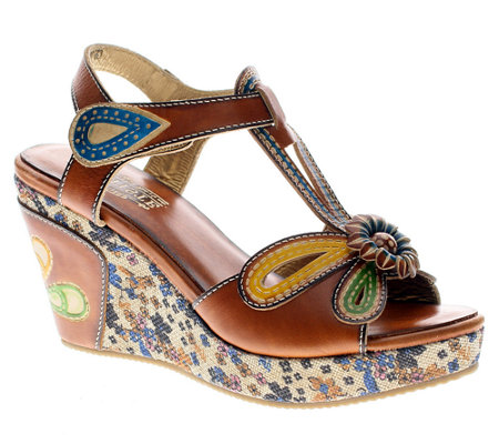 Spring Step L'Artiste Collection Socialite Leather Sandals