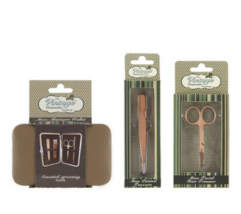 The Vintage Cosmetic Company Men's Grooming Set - A355680