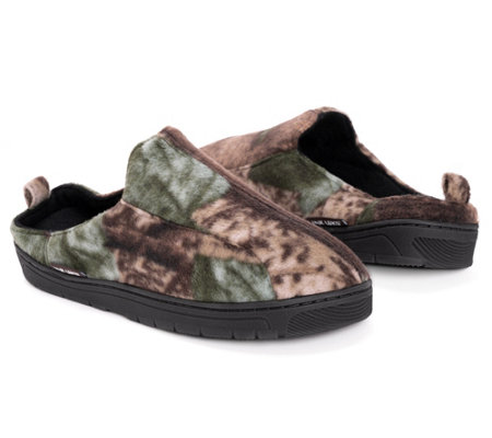 QuietWear Men's Camo Clog with Fleece Lining