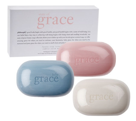 philosophy state of grace 3-piece luxury soap collection