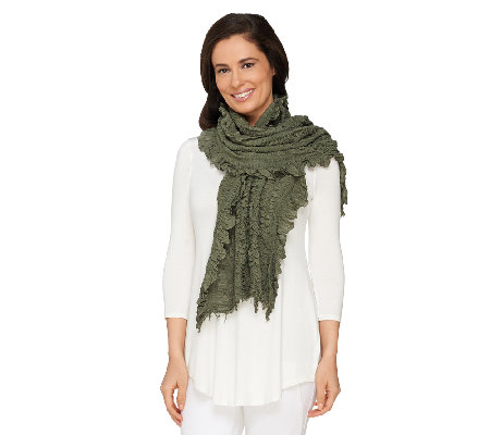 Accessory Network Textured Multi-Ruffle Scarf