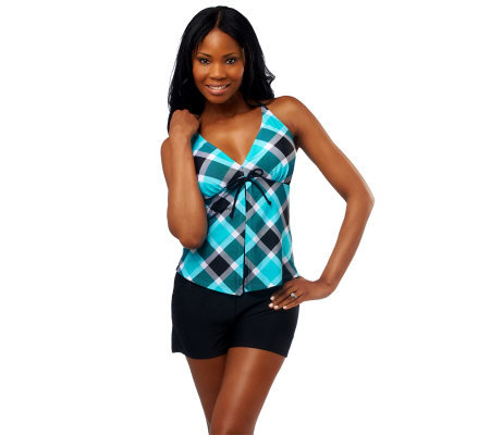 Ocean Dream Signature Square Dance Flyaway Tankini w/Tricot Short