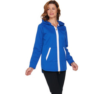 Linea Leisure by Louis Dell'Olio Zip Front Jacket w/ Hood - A225481