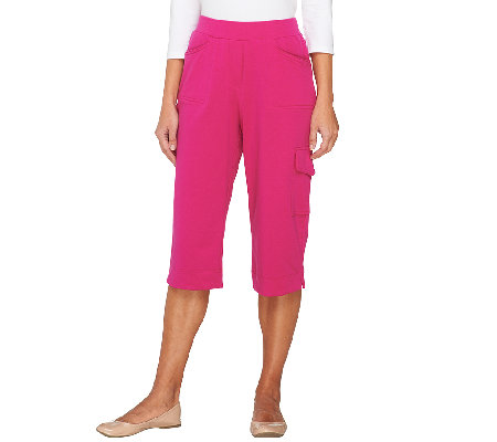 Susan Graver Weekend French Terry Pull-On Capri Pants