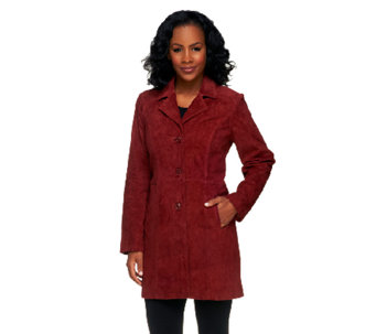 Denim & Co. Washable Suede Button Front Jacket with Pockets - A235681
