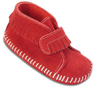 Minnetonka Infant's Hook-and-Loop Front Strap Booties - A241281