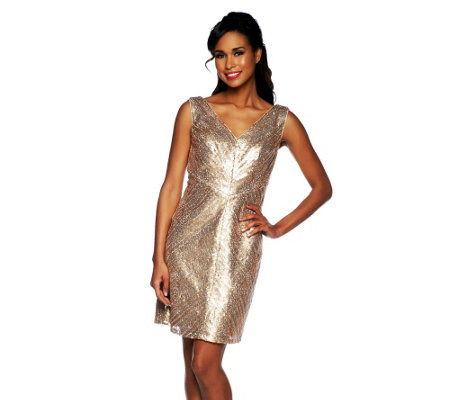 Mark of Style by Mark Zunino Sequin Sleeveless Dress