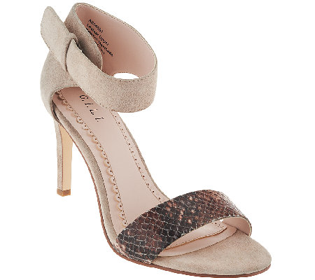 G.I.L.I. Leather Snake Print Stilettos - Nik