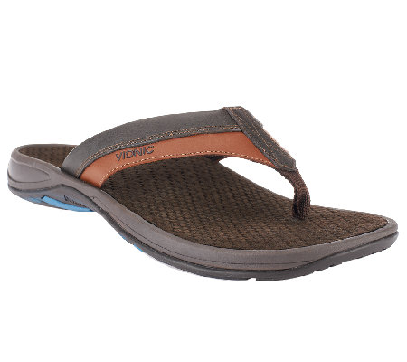 Vionic w/ Orthaheel Men's Orthotic Thong Sandals - Joel