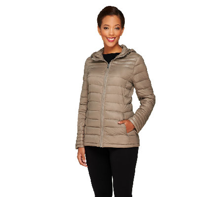Liz Claiborne New York Zip Front Packable Puffer Coat