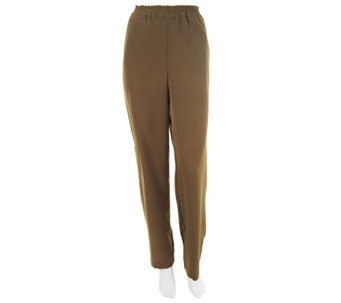 """As Is"" Linea by Louis Dell' Olio Regular Pants with Elastic Waist - A260181"