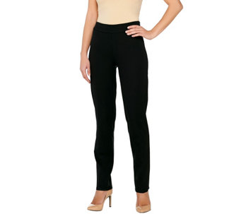 Isaac Mizrahi Live! Petite 24/7 Stretch Side Zip Pants - A263981