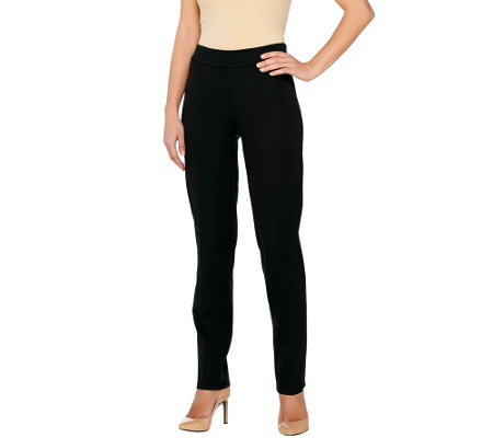 Isaac Mizrahi Live! Petite 24/7 Stretch Side Zip Pants