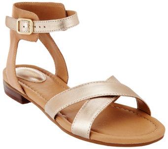 Despertar Sábana Arne  Clarks Artisan Sandals w/ Adjustable Ankle Strap - Viveca Zeal - A265281 -  qvc028a