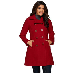 Liz Claiborne New York Double Breasted Peacoat - A267681
