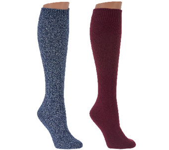 Cuddl Duds Plushfill Knee High Heavyweight Socks Set of 2 - A268781