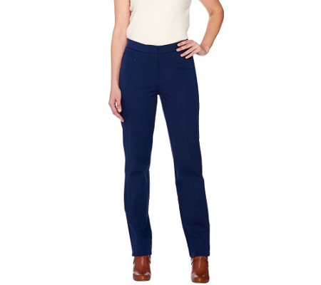 Isaac Mizrahi Live! Regular 24/7 Stretch Straight Leg Pants
