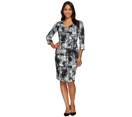 Kelly by Clinton Kelly Faux Wrap Dress with Self Belt