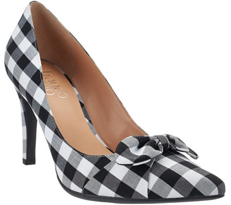Franco Sarto Pointed Toe Pumps with Bow Detail - Arabella