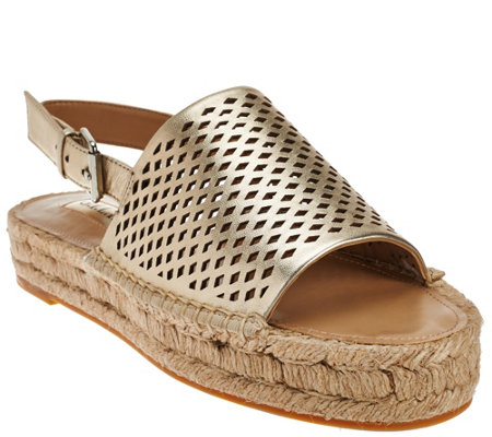 G.I.L.I. Espadrille Sandals with Backstrap - Lucida