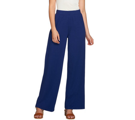 Denim & Co. Beach_Regular Solid Pull-On Pants with Pockets
