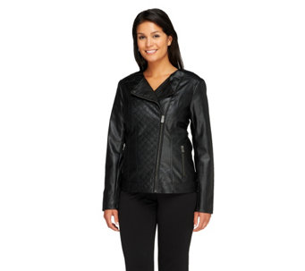 """As Is"" Lisa Rinna Collection Motorcyle Jacket - A276481"