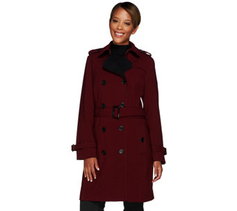"""As Is"" Linea by Louis Dell'Olio Double Brested Trench Coat - A277381"