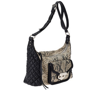 """As Is"" Aimee Kestenberg Quilted Crossbody Bag - Zoe - A277781"