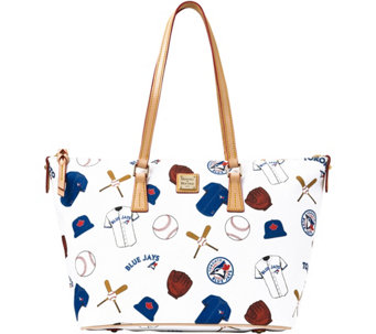 Dooney & Bourke MLB Blue Jays Zip Top Shopper - A280081