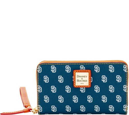 Dooney & Bourke MLB Padres Zip Around Phone Wristlet