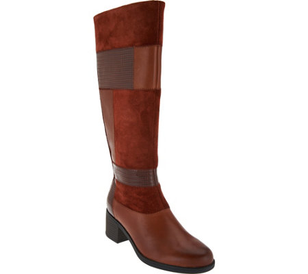 Clarks Leather Patchwork Tall Boots - Nevella Nova