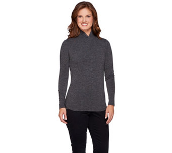 """As Is"" G.I.L.I. Long Sleeve Twist Neck Knit Top - A285281"