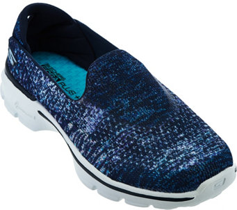 """As Is"" Skecher GO Walk 3 Sublimation Print Slip-ons - Glisten - A287581"