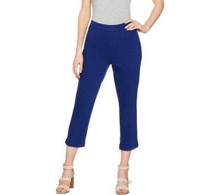 C. Wonder Regular Stretch Knit Twill Pull-On Crop Pants
