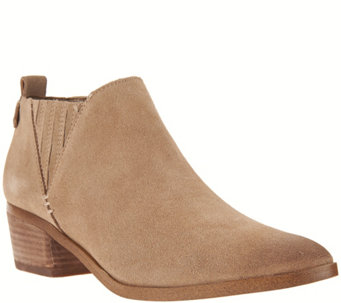 """As Is"" Marc Fisher Suede Ankle Boots w/ Stacked Heel - Wilde - A289881"