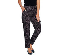 Denim & Co. Active Paisley Print Pants with Cargo Pockets - A292981