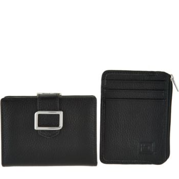 As Is ID Stronghold RFID Trifold w/ Kiss Clasp and Mini Zip