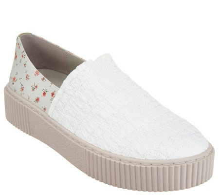 Lori Goldstein Collection Slip-On Sneaker with Smocking